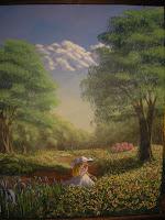 11x14 acrylic painting on canvas board 'Megan'