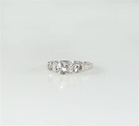 Low Profile Engagement Ring Herkimer Diamond New York's