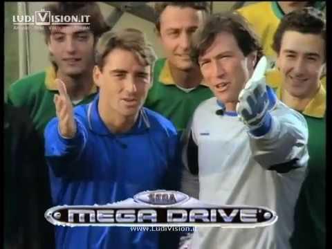 Sega Mega Drive con R. Mancini e W. Zenga (1992)