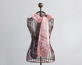 Lace Scarf, Hand Knit Scarf,  All Season  Pink, Brown Natural Fiber - beadedwire