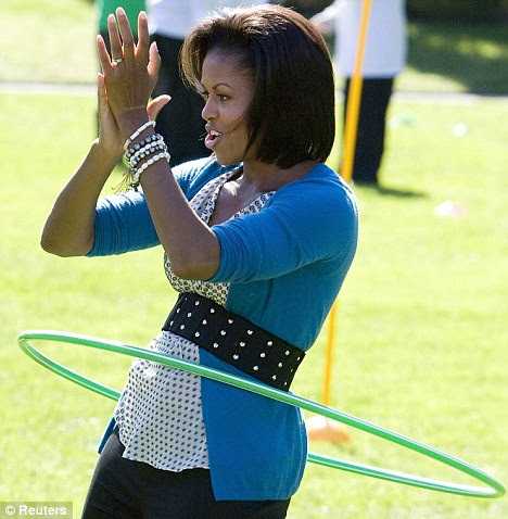 Michelle Obama | hula hoop | Tacky Harper's Cryptic Clues