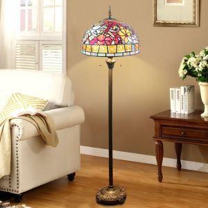 Tiffany Floor Lamp Handmade Stained Glass Shade Standard Lamp
