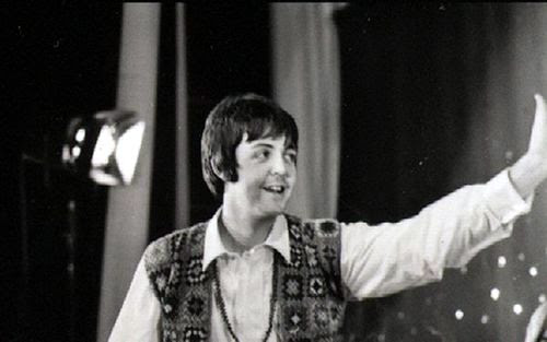 image of Paul McCartney in his crochet waistcoat