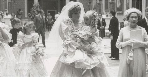 Princess Diana's Wedding Dress Pictures   POPSUGAR Fashion