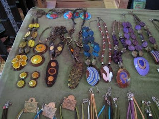 Coconut shell necklaces and pendants