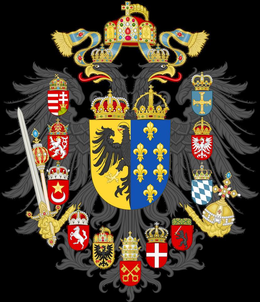 Risultati immagini per coat of arms of carolingian empire