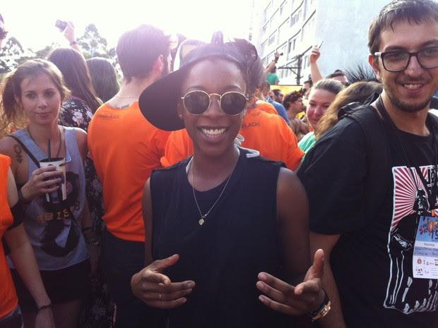Atriz da série 'Orange is the New Black' (Foto: Letícia Macedo/G1)