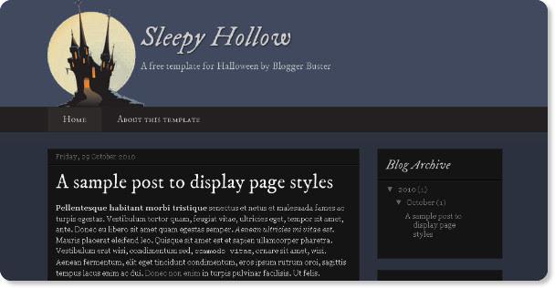 Best Holloween Holiday Blogger Templates
