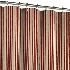 Amazon.com - Maytex Sorrento Stripe Fabric Shower Curtain