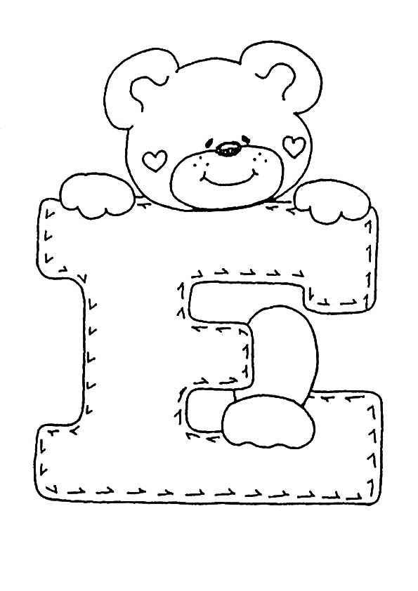 Letra E Para Colorear Dibujos Para Colorear