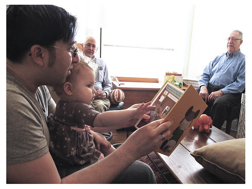 Gates' First Birthday: Reading with cubes