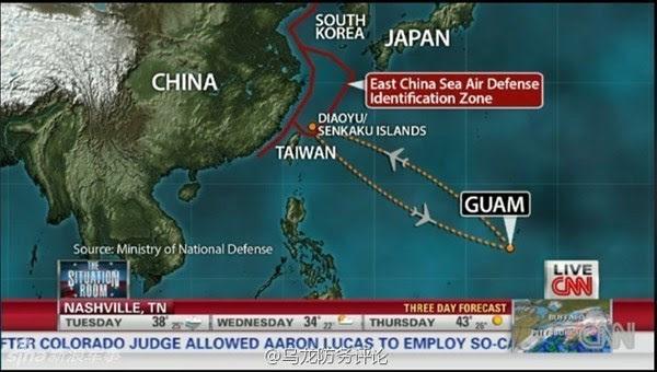 ADIZ, Trung Quốc, liên minh Mỹ-Nhật, vùng phòng không, B 52, Hoa Đông, Biển Đông, tranh chấp lãnh thổ
