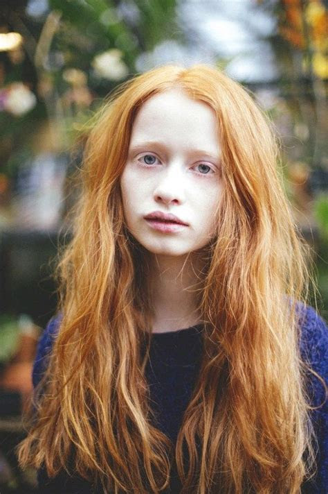 pin  valeria lazareva  faces red hair model fiery