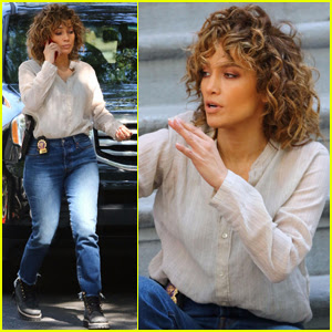 Jennifer Lopez Gets Back to Work After Hamptons Weekend