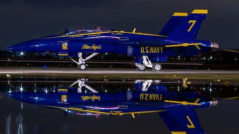 hornet  navy aircraft blue angels night wallpaper