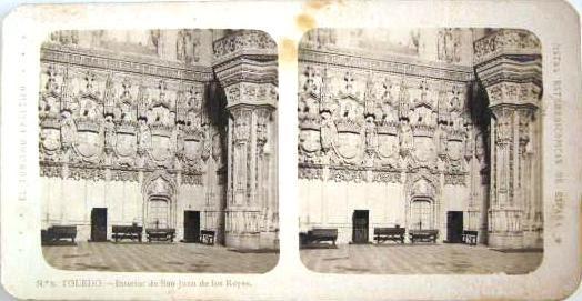 Fotografía estereoscópica de Toledo. San Juan de Los Reyes