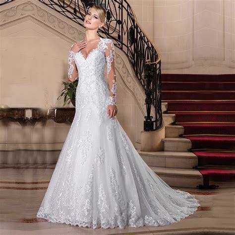 Vestido de Noiva 2018 Sexy Lace Long Sleeve Wedding