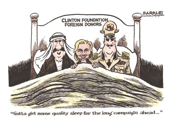 Image result for Clinton foundation cartoon