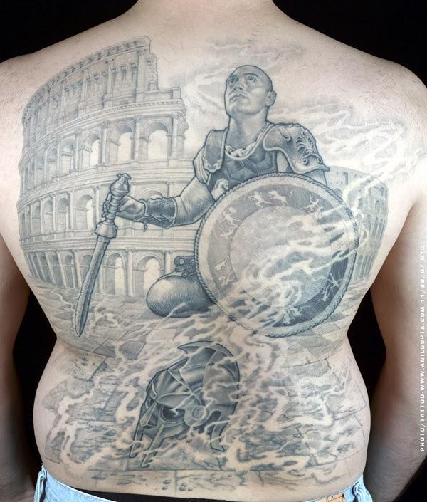 Valiant Gladiator Tattoo Designs (22)