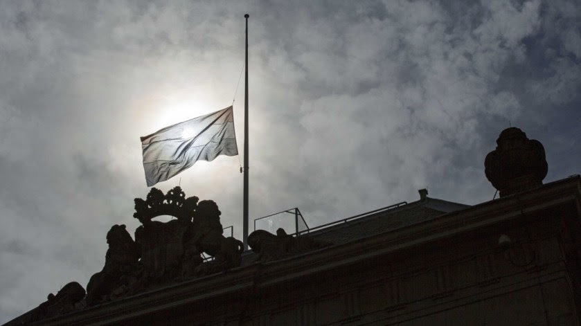 File Photo: A Dutch flag flies at halfmast after two Dutch UN peacekeepers were killed in Mali. EPA, BART MAAT