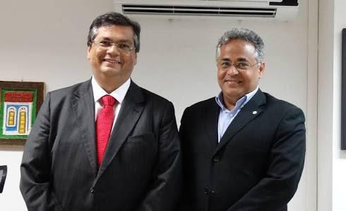 Governador Flávio Dino e o secretário Marcelo Coelho