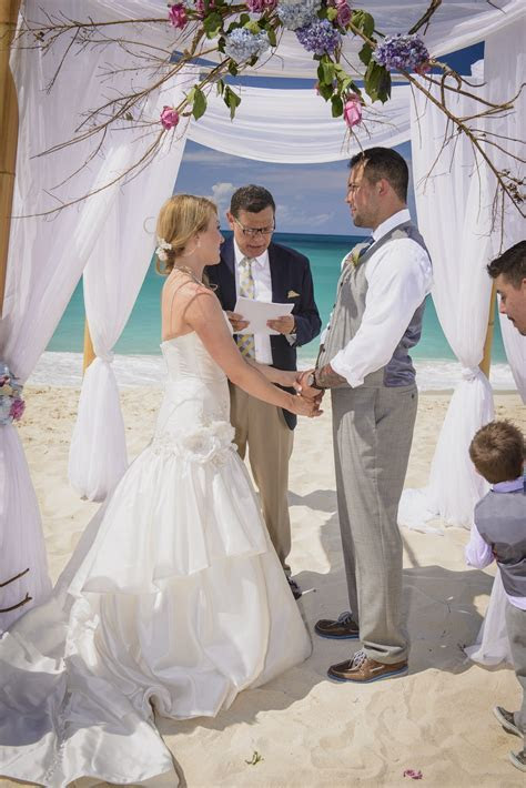 Intimate Cabbage Beach Wedding Ceremony On Paradise Island