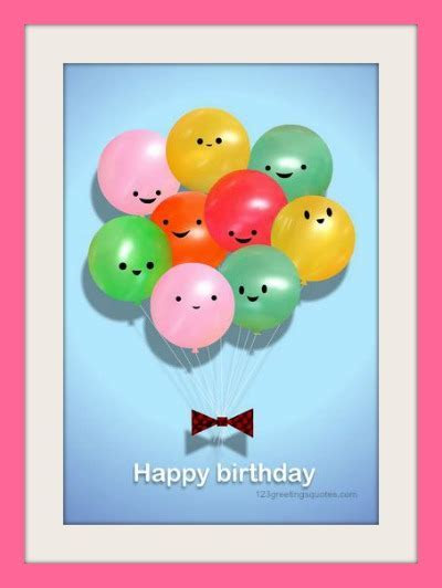free printable birthday cards for kids with baloons and