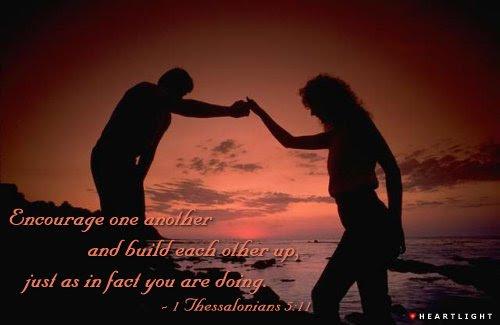 Inspirational illustration of 1 Thessalonians 5:11
