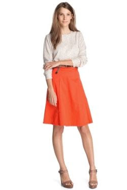 Esprit Pure Orange Linen Cotton Skirt