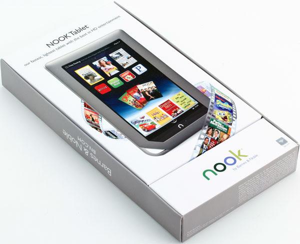 Коробка Nook Tablet