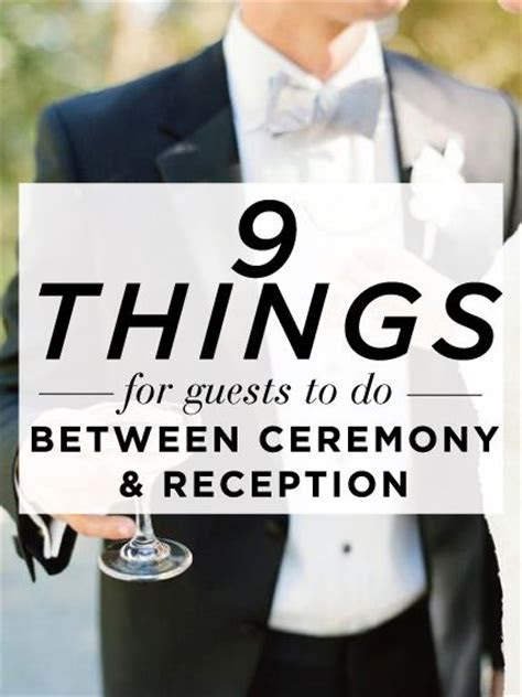 9 Things for Guests to Do Between the Wedding Ceremony and