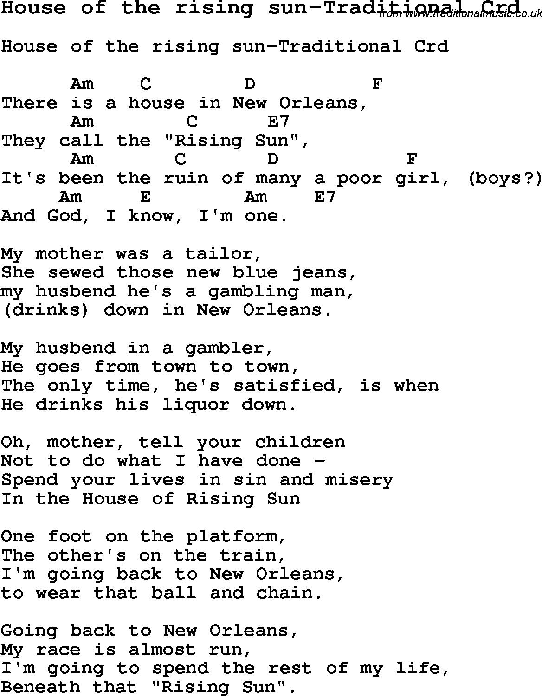 pro mě rezervace Okolní house of the rising sun chords white ...