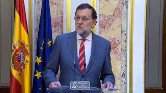 Rajoy compareix en roda de premsa després de la primera ronda de contactes amb la resta de partits