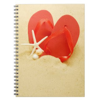 Fun Flip-Flops Spiral Notebooks