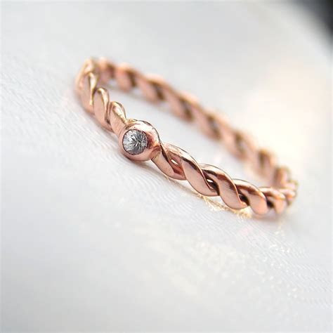 Rock Texture 9k Rose Gold Ring ? Anna Rei Jewellery