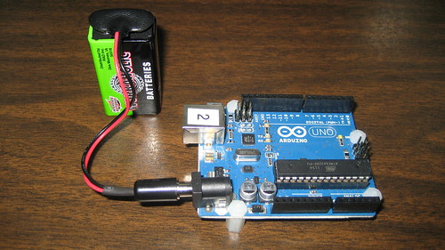Arduino Uno running on 9 Volt battery