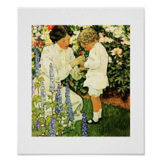 """In the Garden"" by Jessie Willcox Smith Poster"