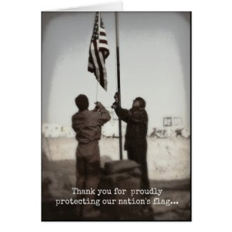 Thank You Veterans Day/Protecting Our Flag Card