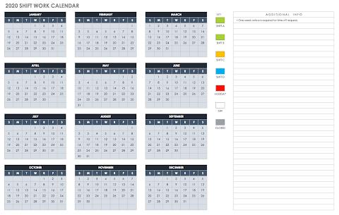 Annual Leave Calendar 2020 Excel Template