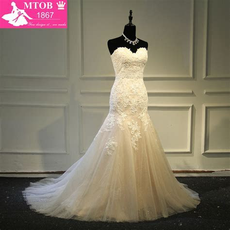 Designer Sexy Mermaid Lace Wedding Dress Shiny Beading