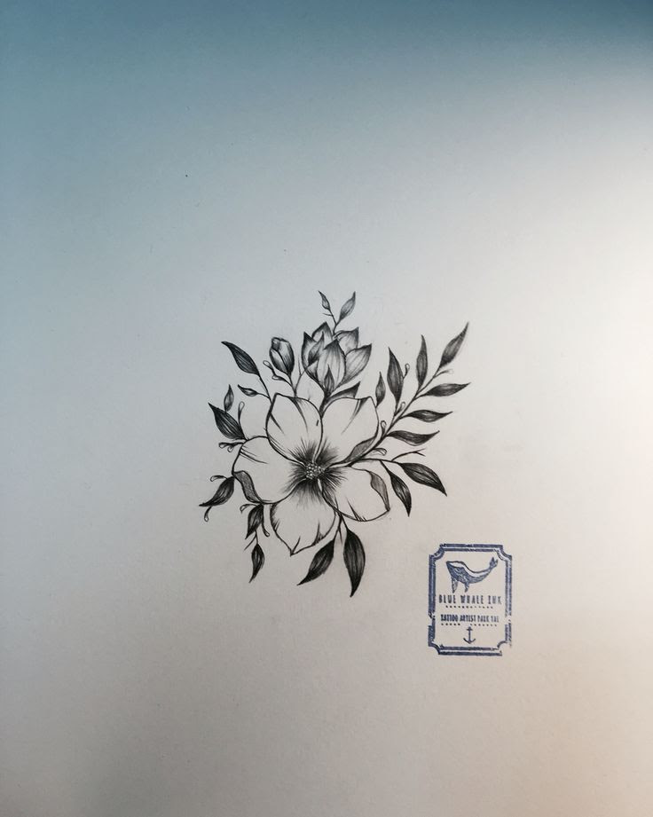 Simple Flower Tattoo Design