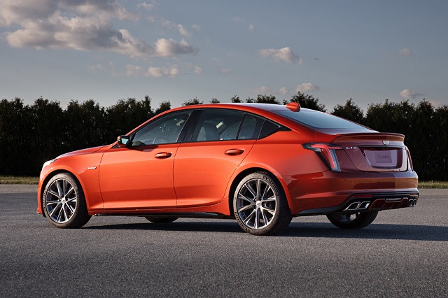 2021 cadillac ct5v rear  best american cars