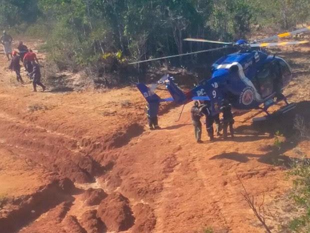 Graer e Samu aturam no resgate das vítimas da queda do helicóptero em Jaguaripe, na Bahia (Foto: Graer / Divulgação)