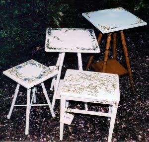 Custom painted tables