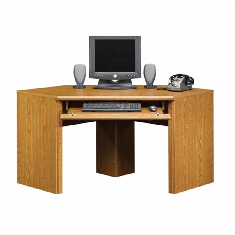 Sauder Orchard Hills Small Corner Wood Carolina Oak Computer Desk ...