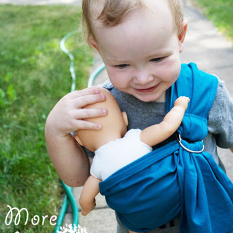 kids baby doll ring sling tutorial
