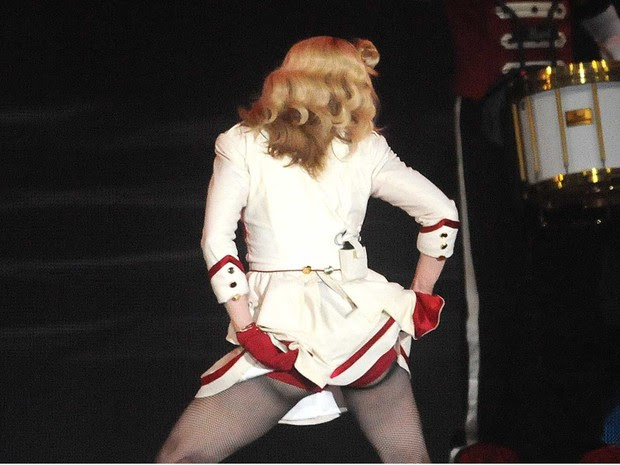 Madonna se apresenta no Parque dos Atletas, no Rio, na madrugada desta segunda-feira (3) (Foto: Alexandre Durão/G1)