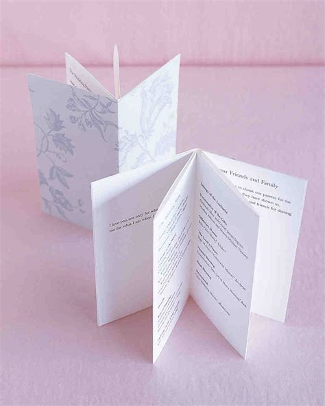 25 Ways to Upgrade Your DIY Wedding Programs   Martha