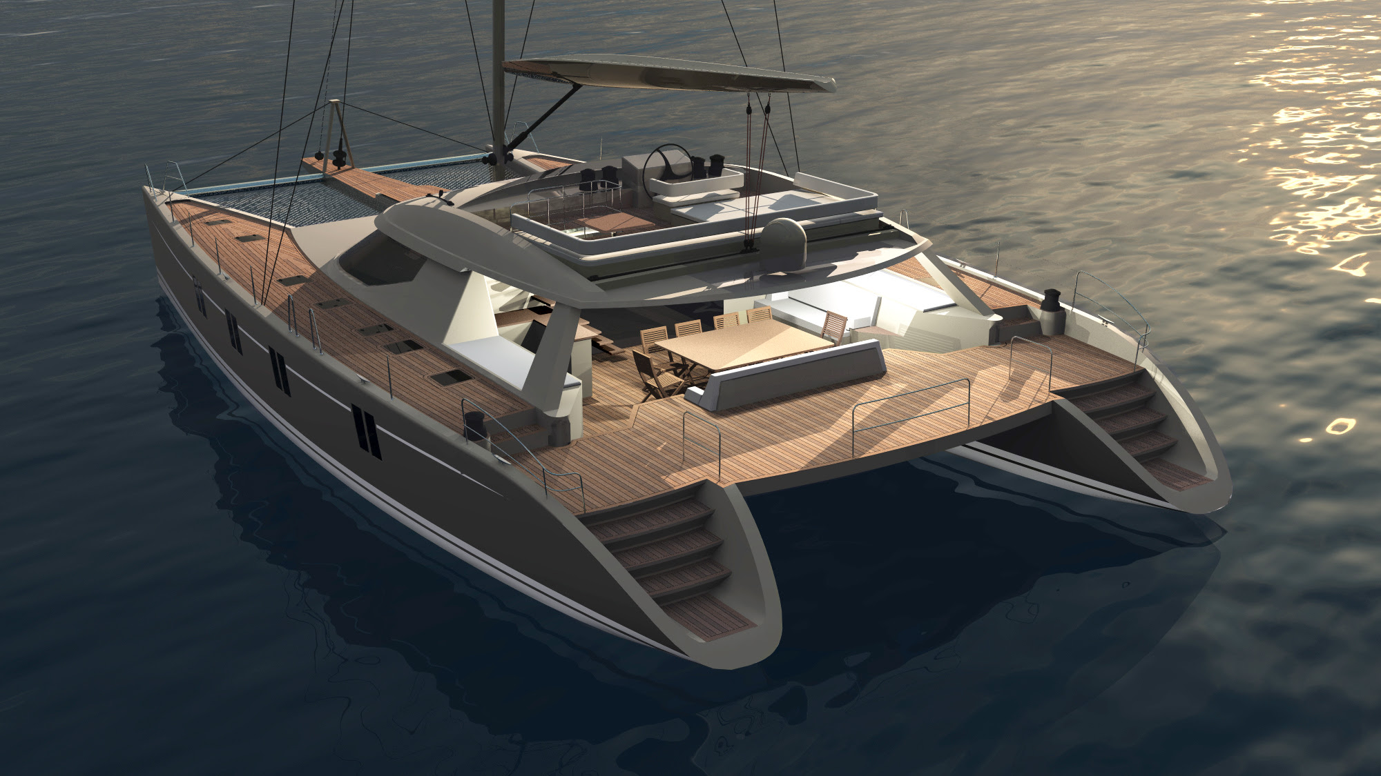 Outboard catamaran plans | Plan make easy to build boat