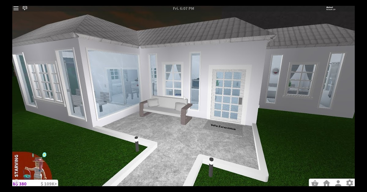 Roblox Bloxburg One Floor Mansion Roblox How To Get Free